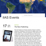 "Presentation ""The New Publishing"" at IIAS"