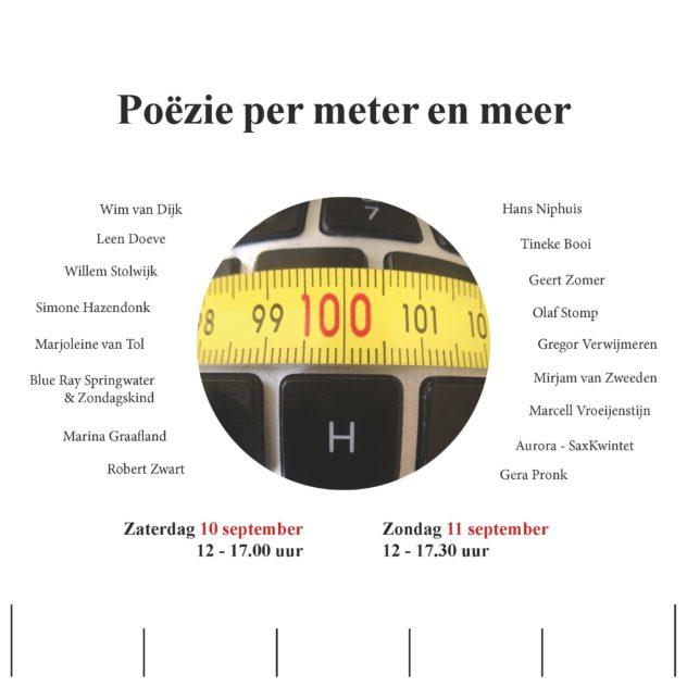 Poëzie per meter en meer - logo en deelnemers