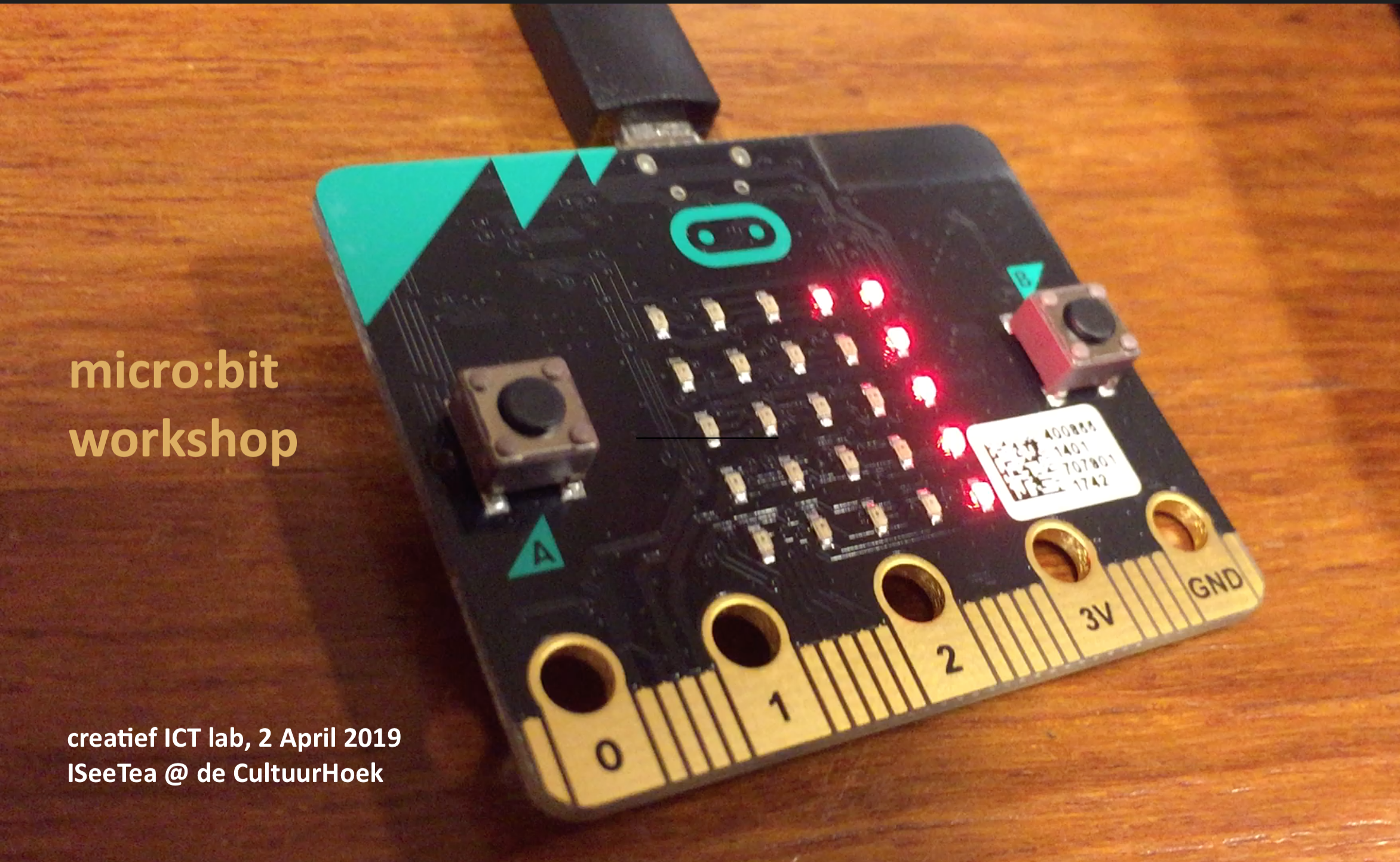 Micro:bits in het Creatief ICT lab